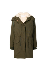 See by Chloe See By Chlo Zipped Hooded Parka Coat