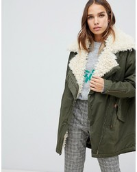 Only Sheared Linned Parka Jacket