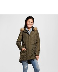 Mossimo Supply Co Utility Parka With Faux Fur Trim Supply Co