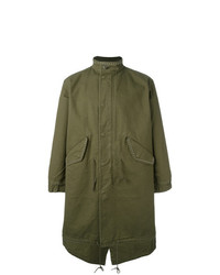 Saint Laurent Sweet Dreams Studded Parka Green