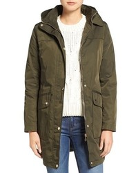 Eliza J Water Repellent Hooded Parka
