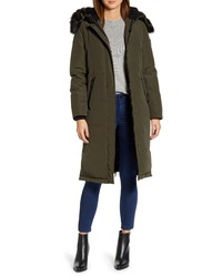 Sam Edelman Water Resistant Long Parka With Faux