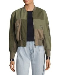 3.1 Phillip Lim Patchwork Cotton Bomber Jacket