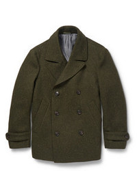 Olive pea coat original 1440069