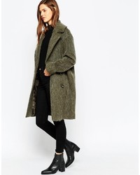 Asos Collection Pea Coat In Oversized Fit