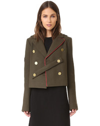 Tibi Cropped Pea Coat