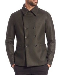 Armani Collezioni Double Breasted Wool Peacoat