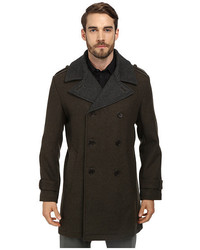 Cole Haan Doubleface Wool Double Breasted Coat