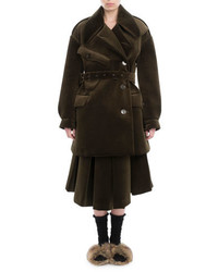 Simone Rocha Neoprene Military Pea Coat