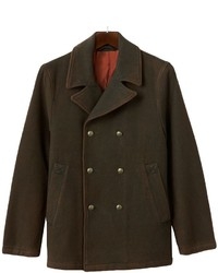 R and o double breasted wool blend peacoat medium 354559