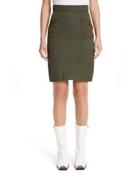 Stella McCartney Alter Suede Trim Skirt