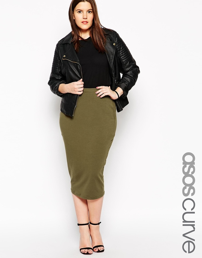 Asos Curve Midi Pencil Skirt In Jersey | Where to buy & how to wear
