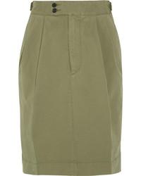 Joseph Dean Stretch Cotton Twill Skirt