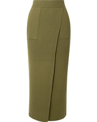 Mara Hoffman Elena Wrap Effect Ribbed Organic Cotton Skirt