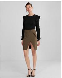 Express High Waisted Belted Pencil Skirt