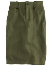 J.Crew Petite Linen Cargo Pencil Skirt