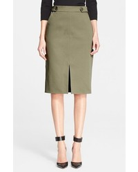 Nordstrom Signature And Caroline Issa Defined Twill Pencil Skirt