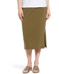 Eileen Fisher Stretch Organic Cotton Pencil Skirt