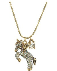 Betsey Johnson Pegasus Pendant Necklace Necklace