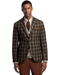 Olive Plaid Blazer | Men's Fashion