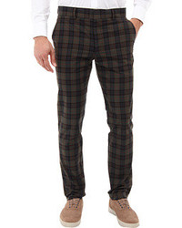Olive Plaid Dress Pants for Men | Men's Fashion
