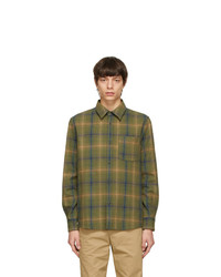 A.P.C. Green Check Trek Over Shirt