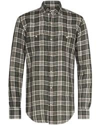 Eleventy Check Pattern Long Sleeve Shirt