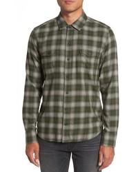 Everett plaid sport shirt medium 5168348