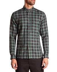 Plaid button down shirt medium 1197357