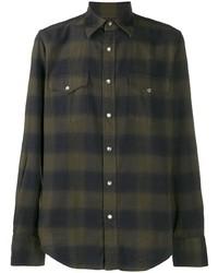Tom Ford Slim Fit Plaid Shirt