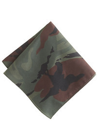 Camo Italian Cotton Pocket Square In