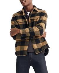 Madewell Buffalo Plaid Brushed Twill Shirt Jacket