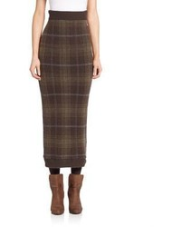Ralph Lauren Collection Tartan Cashmere Skirt