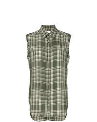 Wales Bonner Plaid Sleeveless Shirt