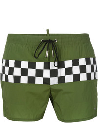 DSQUARED2 Checkerboard Swim Shorts