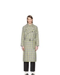 Tibi Green And Beige Recycled Trench Coat