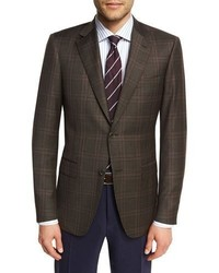 Plaid super 130s wool sport coat medium 4380705