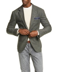 Brunello Cucinelli Trim Fit Plaid Wool Blend Sport Coat