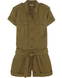Burberry Brit Silk And Linen Blend Playsuit