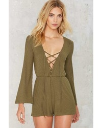 Factory Down To Earth Ribbed Romper