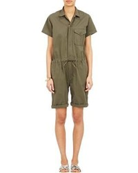 Engineered Garments Drawstring Romper Green