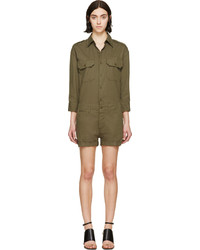 Nlst Green Officers Romper