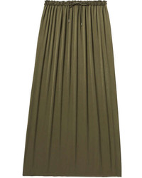 Joe Fresh Satin Maxi Skirt Khaki Green