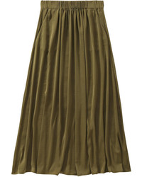 Satin maxi skirt navy medium 451137