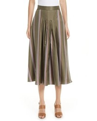 Roksanda Tahki Stripe Silk Skirt
