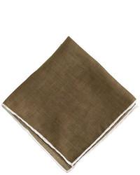 Tipped italian linen pocket square medium 171626