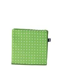 Olive Polka Dot Pocket Square