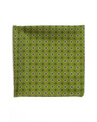 BOSS HUGO BOSS Silk Pocket Square Green One Size
