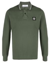 Stone Island Stripe Trim Polo Shirt