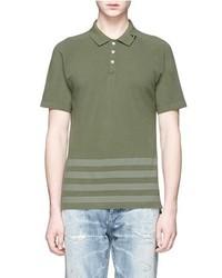 Denham Jeans Denham Joey Raglan Sleeve Stripe Polo T Shirt